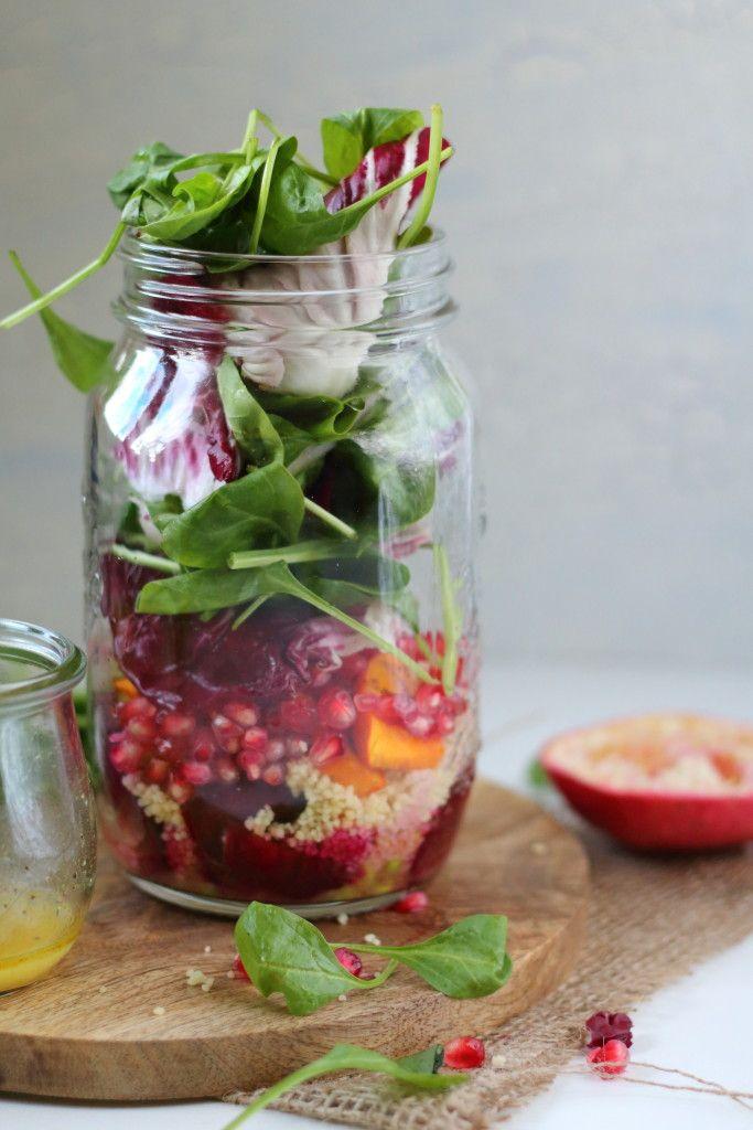 salat im glas mit k rbis edamame granatapfel und roter beete s oder salzig pinterest. Black Bedroom Furniture Sets. Home Design Ideas