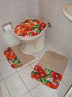 jogo de banheiro com chita - Pesquisa Google