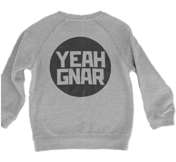 'The Orig' sweater - Marle Grey/Black / Yeahgnar