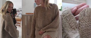 свитер для беременных мини