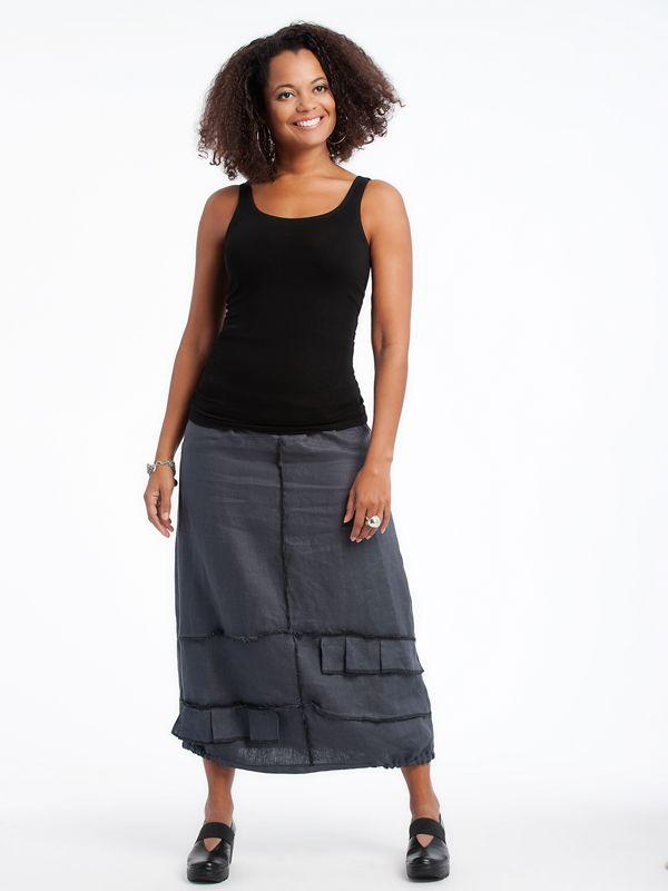 Linen Ruffle skirt www.lousjeandbean.ca  #lousjeandbean #linen #shoplocal #canadianmade Tessa Oort ~ Lousje & Bean