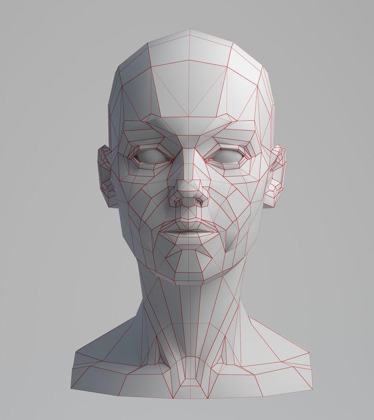 ArtStation - Planes of the Face [WIP], Aleksandrs K