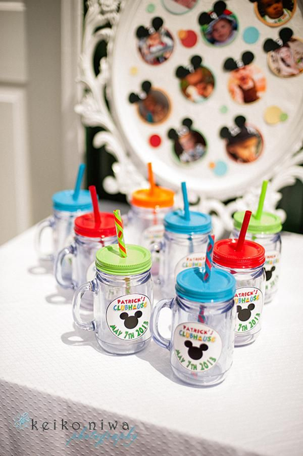 Mickey Mouse Clubhouse Party via Kara's party ideas.  Party favors fill with candy stickers etc.