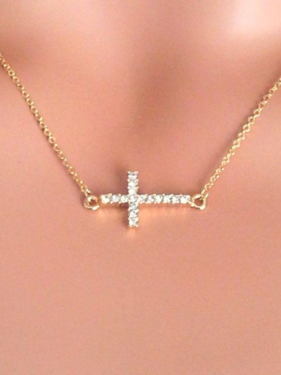 Yolanda Foster wore one! Sideways Cross Necklace 14kt Goldfilled by ...