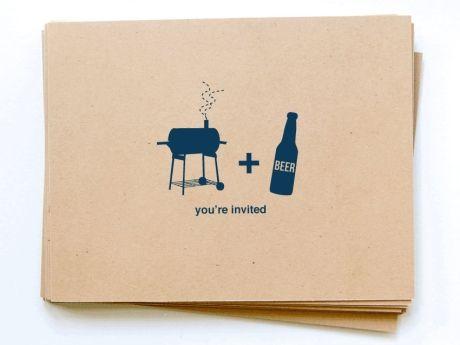 Printable BBQ & Beer Invitations