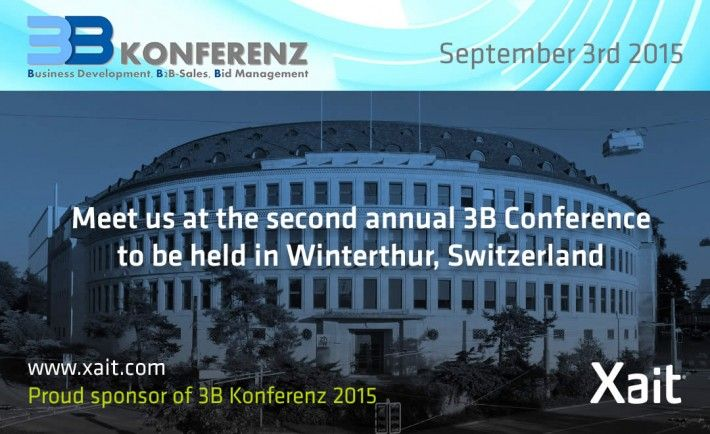 Xait is proud to be a silver sponsor of 3B-Konferenz