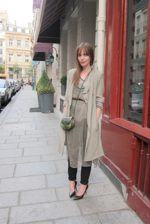 Always love her outfits.Summer Weekend, Paris Style