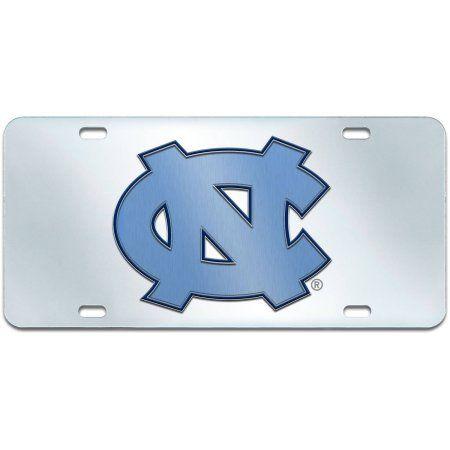 UNC University of North Carolina License Plate, Silver