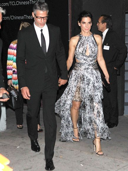 Sandra Bullock's Boyfriend Bryan Randall Joins Her at Our Brand Is Crisis Premiere