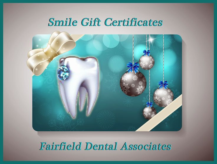#Give a smile - get a #smile this #holiday with a Fairfield Dental Associates gift certificate - Click here: http://www.fairfielddentalassociates.com/fairfield-dental-associates-gift-certificates