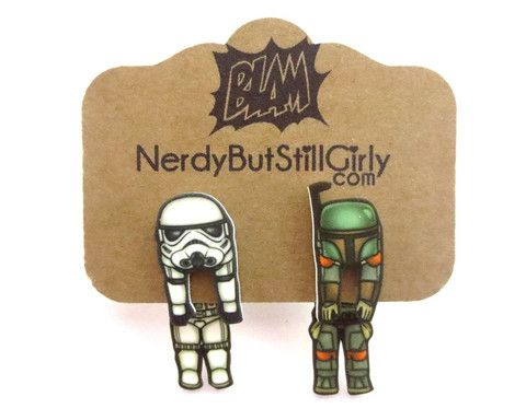 Faceless Enforcer And The Bounty Hunter Cling Earring
