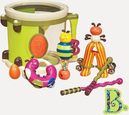 B Toys Bębenek z instrumentami - Wykonaj swój pierwszy koncert z udziałem zabawnych instrumentów!