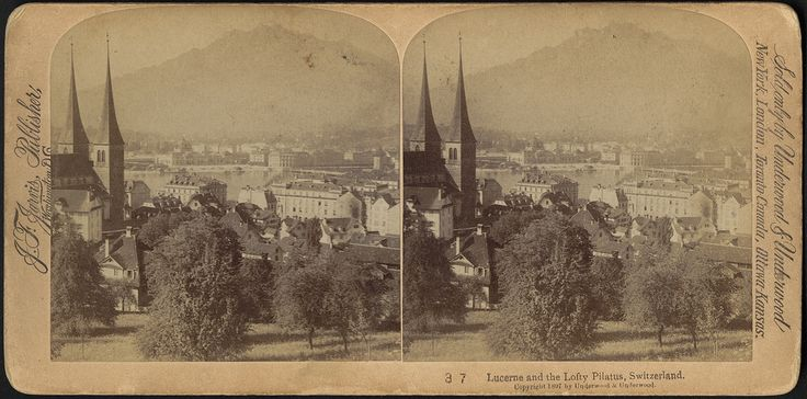 Local Accession Number: 06_11_004054 Title: Lucerne and the lofty Pilatus, Switzerland Genre: Stereographs; Photographic prints Created/Published: Washington, D.C. : J.F. Jarvis, Publishers Copyright date: 1897 Physical description: 1 photographic print on curved stereo card : stereograph ; 9 x 18 cm. General notes: Title from item.; No. 37.; Copyright 1897 by Underwood & Underwood. Subjects: Cities & towns; Mountains Collection: Harper Stereograph Collection Location: Boston Public Library…