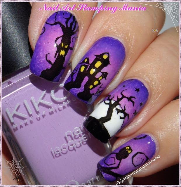 Nail Art Stamping Mania: Halloween Manicure with UberChic Beauty Plate