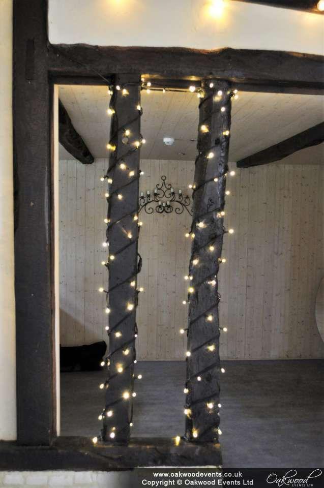 A little extra sparkle on the dance floor cubby pillars!