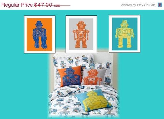 Elegant Robot Paintings For Living Room