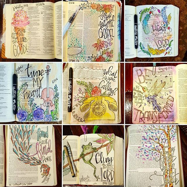 My #bestnine2016 bible pages. I can't believe I started bible journaling almost 2 years ago! I have been so blessed in this process and God has shown me so much this year in my quiet times. I am looking forward to journaling in 2017! #illustratedfaith #biblejournaling #biblejournal #biblejournalingcommunity