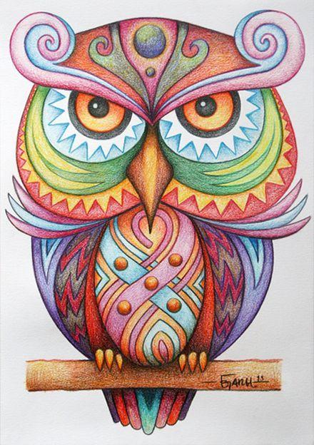 Corujas / Owl - Rosana Raven ◯☾☆~ by Jose Garel Alvoeiro