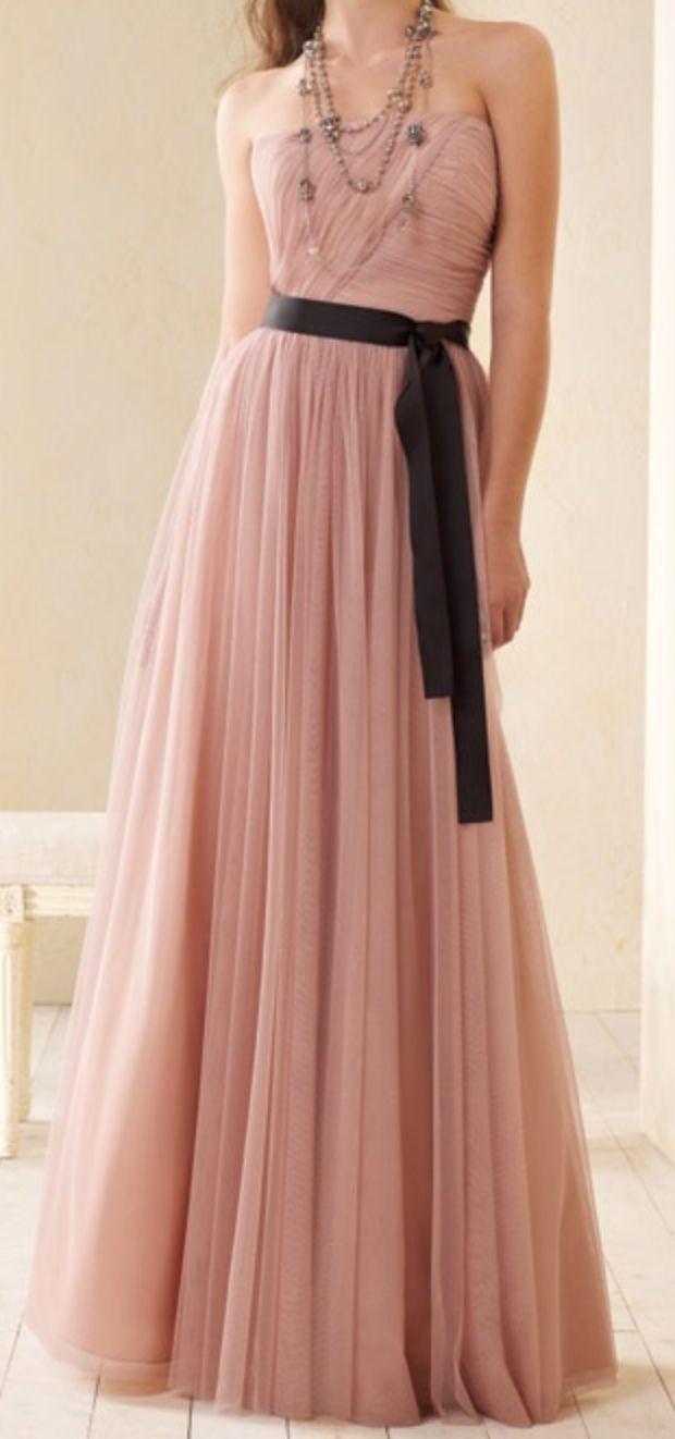 Blush tulle dress