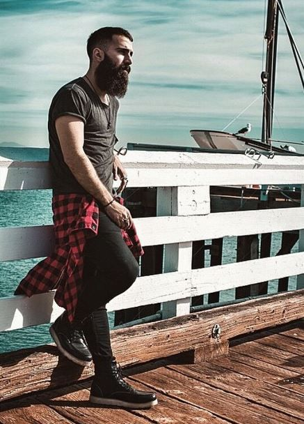 Beards. Men. Ink. Pier. Boat. Photography.