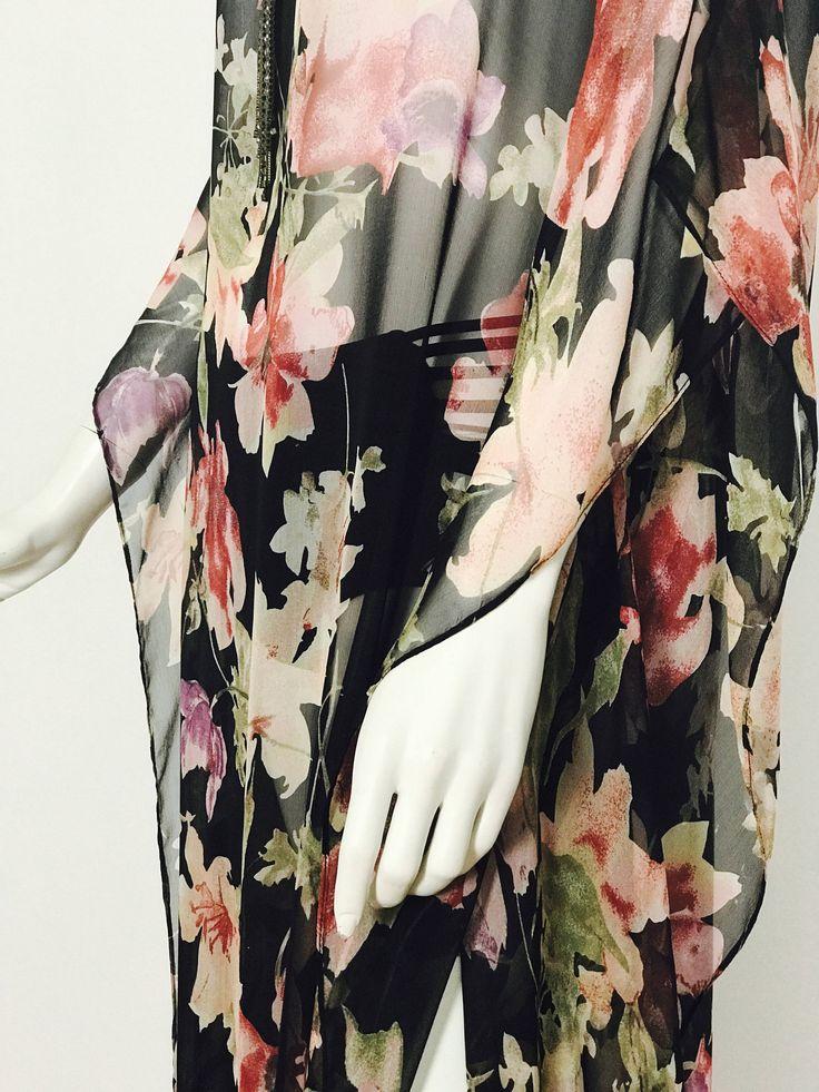 Kaftan, silk kaftan, caftan, silk caftan, bohemain dress, boho dress, silk dress, cover up, wedding, evening dress, glamorous, fashion