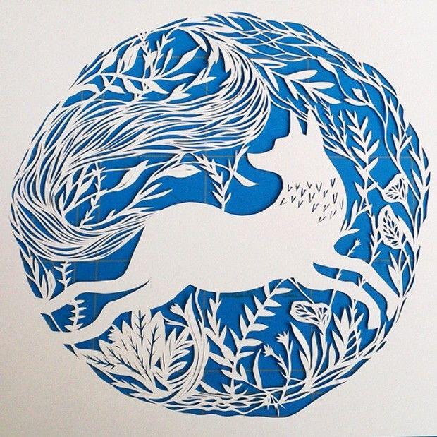 Les oeuvres en papier découpé de Monique van Uden - Journal du Design