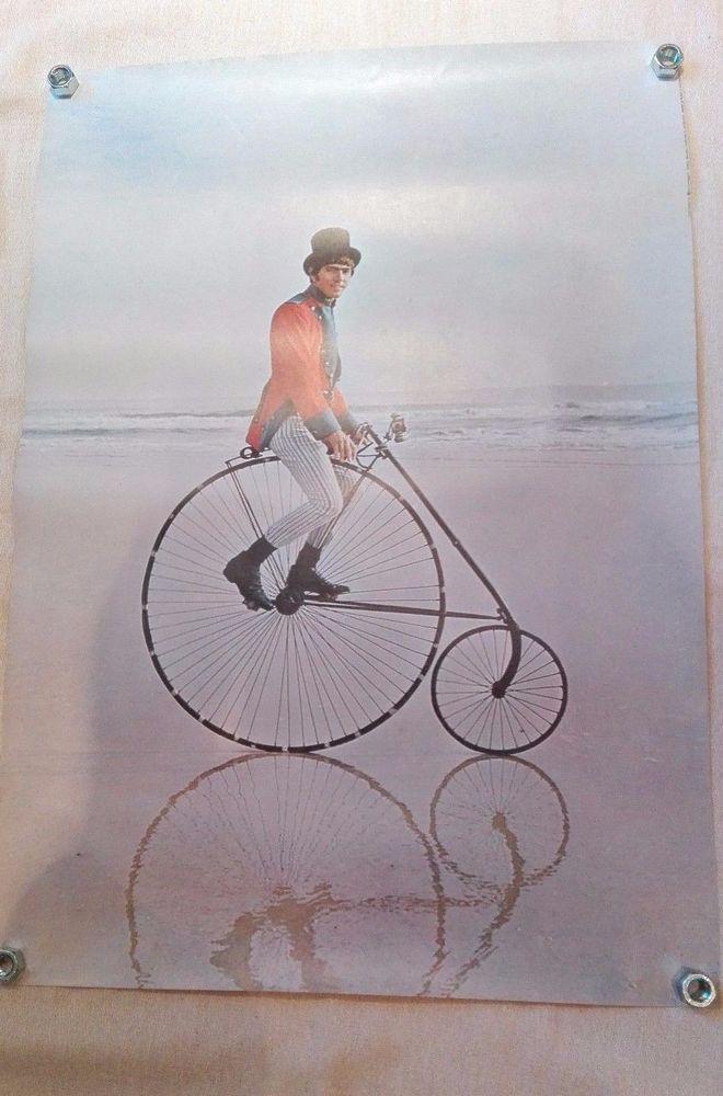 Affiche, poster Homme sur grand-bi DELTA PRODUCTIONS,années 70-80 rétro. A1071   eBay
