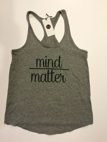 E & J Barre Boutique - Mind Over Matter Tank - Raceback