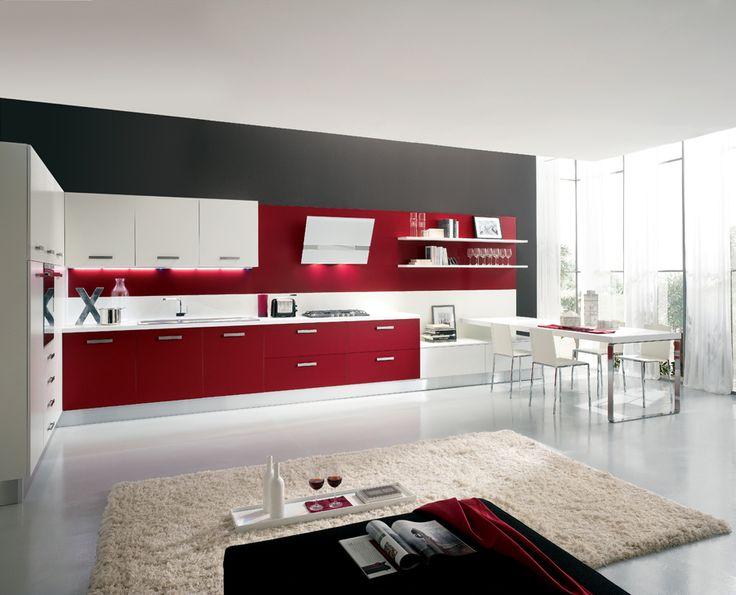 Oltre 1000 idee su Arredamento Cucina Rosso su Pinterest  Cucine ...
