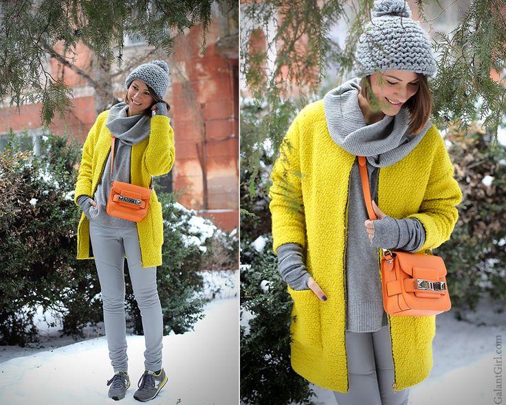 Оранжевый- модный тренд. Вариант дозированного цвета