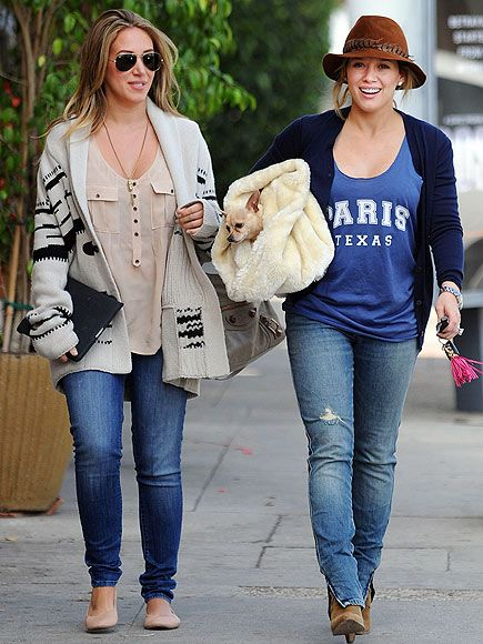 Hilary Duff is so cute prego and I love that she is sporting a Paris, Texas tank! #Texas