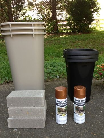 Amazingly Easy (and chic) DIY Outdoor Planter Pot for $15!! You could do it in any color and I bet you could do it for even less than $15 :) :) :)