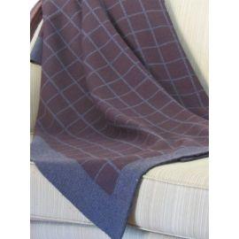 Plaid Knit Throw - Aubergine
