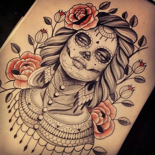 day of the dead design day of the dead tattoo pinterest tattoo tattoo designs and peircings. Black Bedroom Furniture Sets. Home Design Ideas