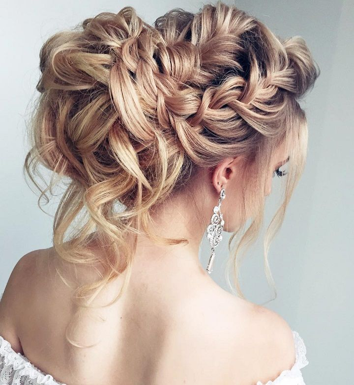 Beautiful Braided wedding hairstyle for long hair. Get inspired with this hand-picked bundle of bridal that are sure to bring out your,medium length hair