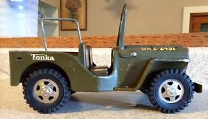 Vintage 1964 GR2 2431 Tonka Military Die Cast Metal Collectable Toy Jeep | eBay