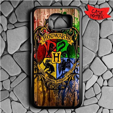 Hogwarts Wood Samsung Galaxy S7 Black Case