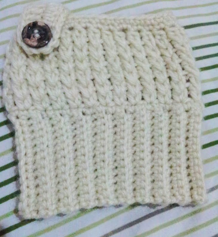 Boot cuffs em croche com botão / Crochet boot cuffs pattern