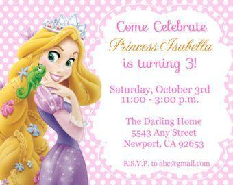 Invitación enredado Rapunzel invitación por StarPartyPrintables