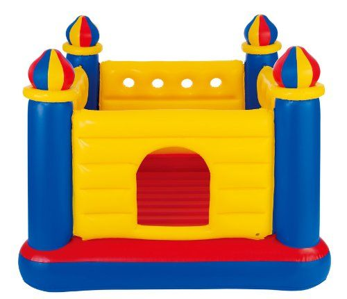"Amazon.com: Intex Jump O Lene Castle Inflatable Bouncer, 69"" X 69"" X 53"", for Ages 3-6: Toys & Games"