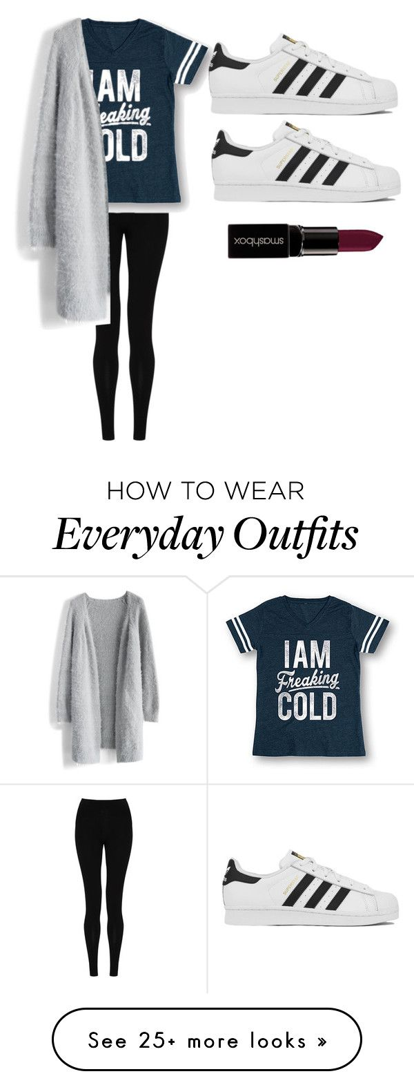 """""""everyday outfit"""" by allidiva on Polyvore featuring M&S Collection, Chicwish, adidas, Smashbox, women's clothing, women's fashion, women, female, woman and misses"""