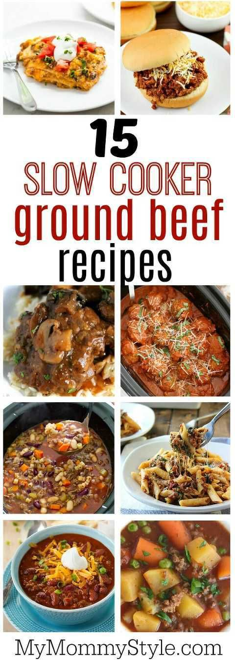 15 easy and delicious slow cooker ground beef recipes