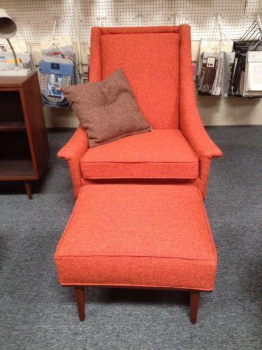Mid Century Modern Selig Of Monroe Lounge Chair Arm Club