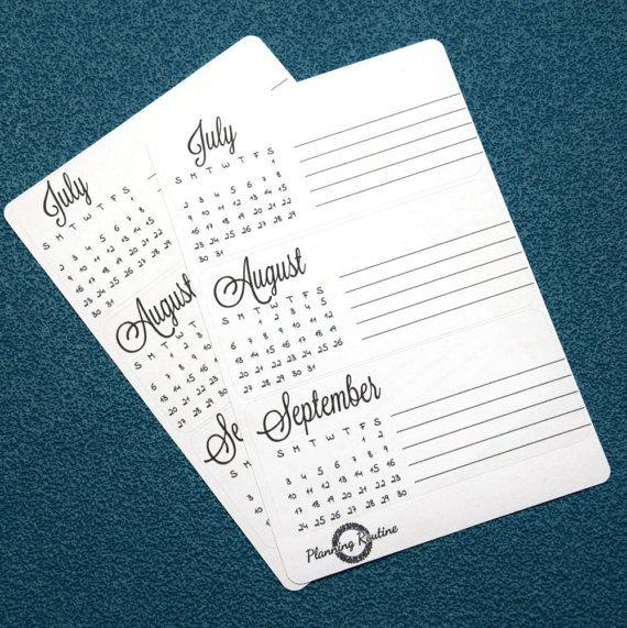Maandelijkse Planner, derde trimester af met notities 2017, juli, augustus, September, maandkalender