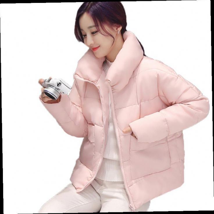 43.38$  Watch here - http://aliafd.worldwells.pw/go.php?t=32750405514 - Winter Women Short Design Wadded Jackets Loose Fit Bread Warm Coats Candy Color Loose Parkas Short Cotton Jacket Pink Outwear