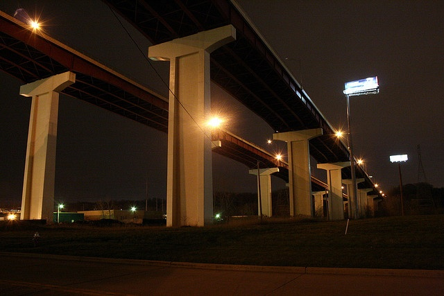 The Valley View Bridge is a pair of steel multi-stringer highway girder bridges that carry I-480 over the Cuyahoga River valley in Valley View and Independence, Ohio. They are 212 feet (65 m) high and 4,150 feet (1,260 m) long.