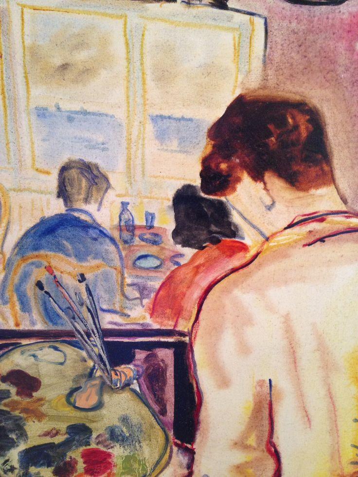Tap Werkman Nieuw begin 1949, olieverf op doek, coll. Museum Dr8888 in langdurge bruikleen part. coll.