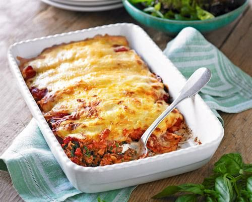 Slimming World spinach, tomato and red pepper cannelloni |