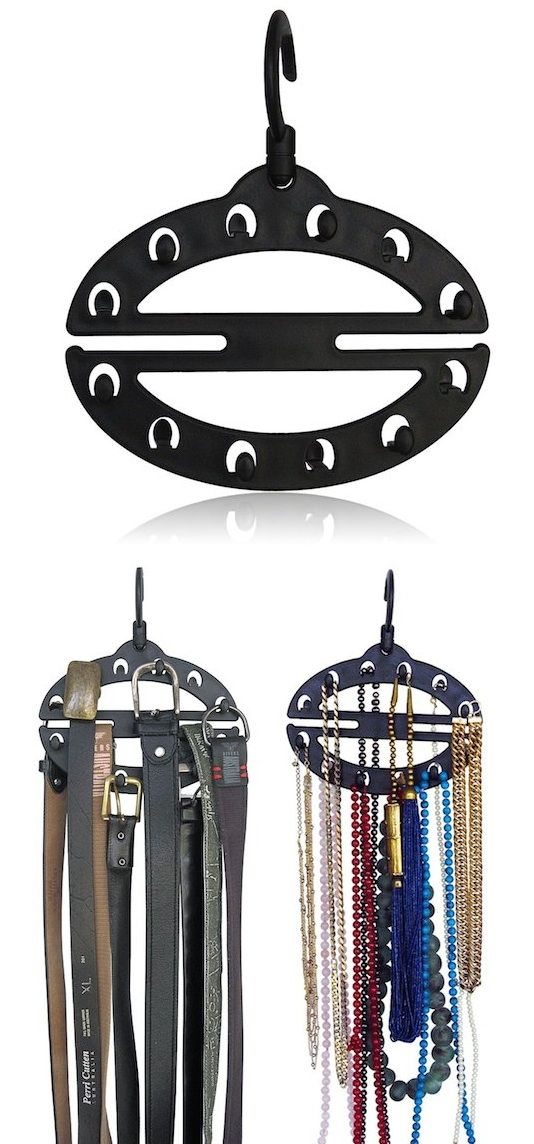#28. Belt Rack Hanger -- 55 Genius Storage Inventions That Will Simplify Your Life