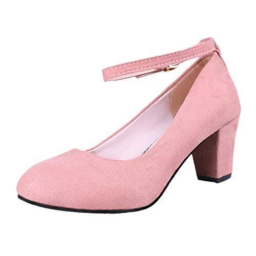 Boucle Fermé Chaussures Bout Haut Femmes Bloc Satin Talon Escarpins F1clKJ